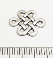 Tibetan Style Silver Celtic Connectors / Links. x 10. 17mm x 14mm